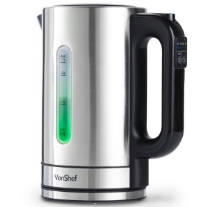 Variable temperature electric Tea kettles our recommended VonShef model