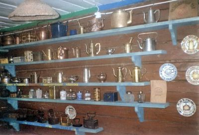 A collection of Stovetop tea kettles from the Kettle Museum in Pereslavl-Zalessky Russia