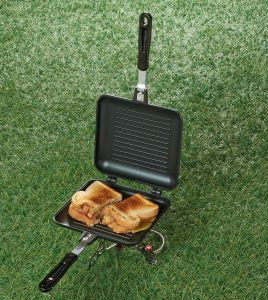 Non Electric  sandwich makers have been in use for thousands of years and are used over a fire