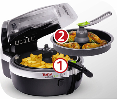 The PainFree Shopping Air Fryer Guide Tefal Actifry 2 in1 with 2 seperate cooking zones